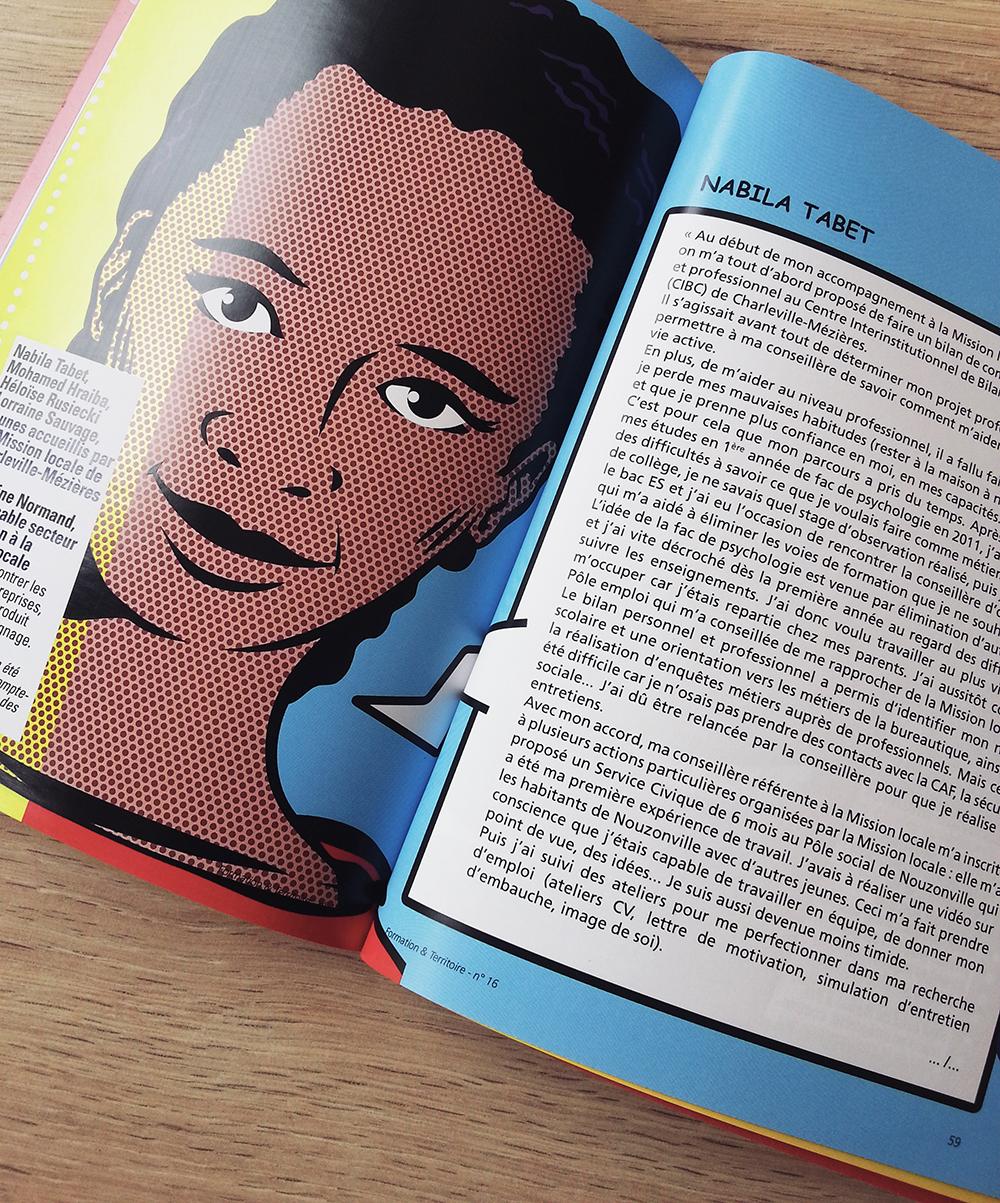 Création conception graphique et visuelle mise en page de la revue Formation et Territoire