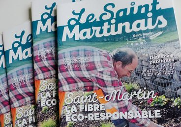 Création conception graphique, rédaction du magazine municipale de la commune de Saint Martin sur le Pré